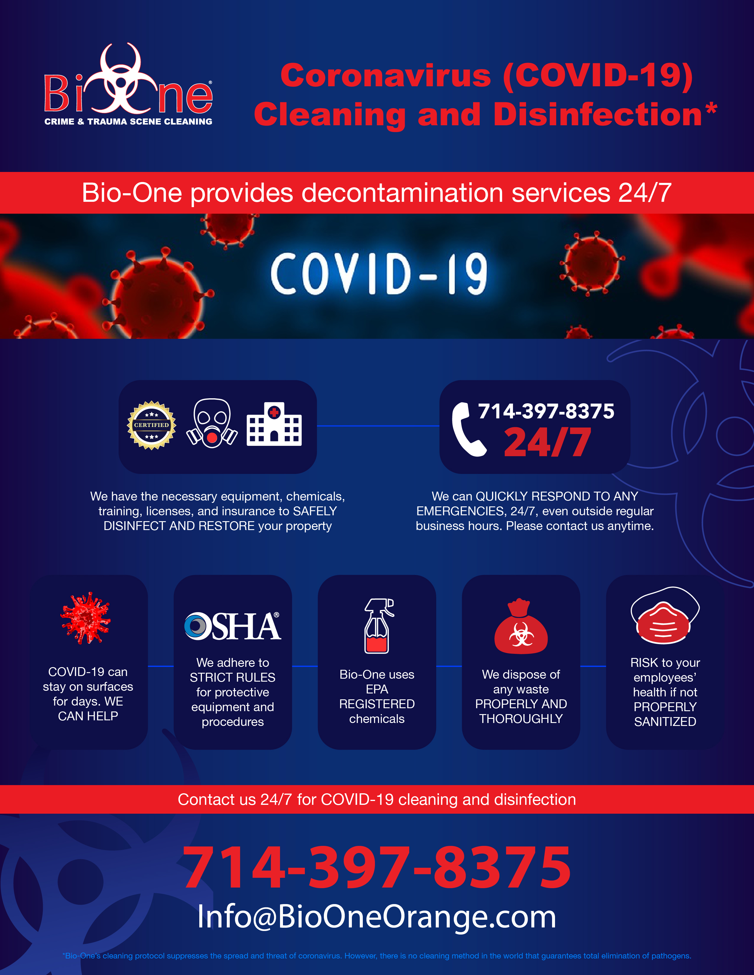 COVID-19 Cleaning and Disinfection Service