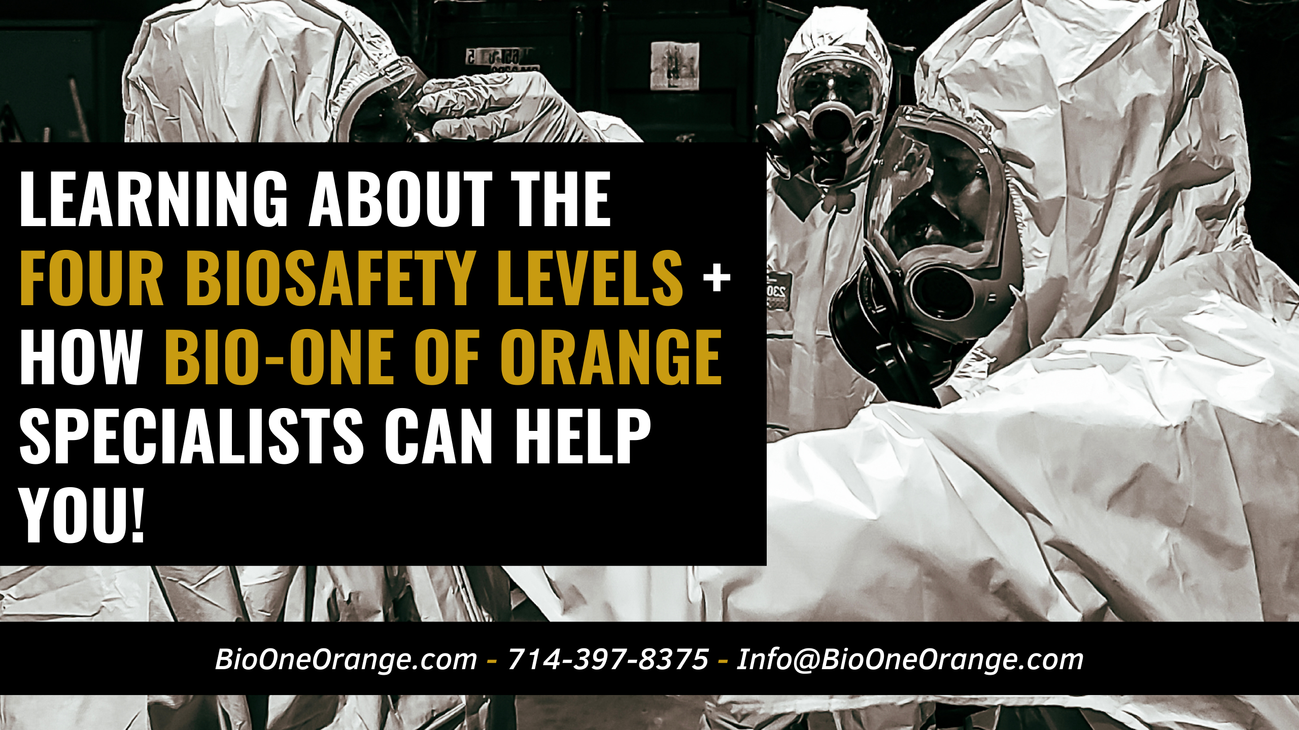 Learning about the 4 Biosafety Levels + How Bio-One of Orange specialists can help you!